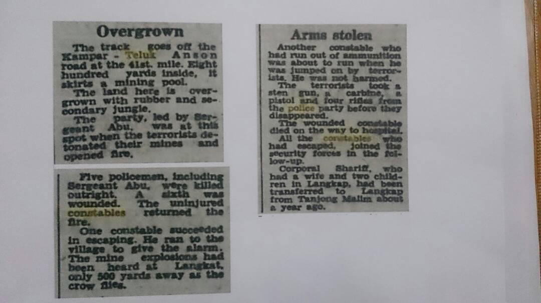 Kisah Serangan Hendap Komunis Ke Atas Polis Di Langkap Pada 1956